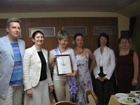 вручение диплома Жигачевой Анне Владленовне