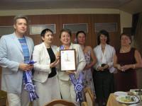вручение диплома Стаченковой Светлане Валерьевне